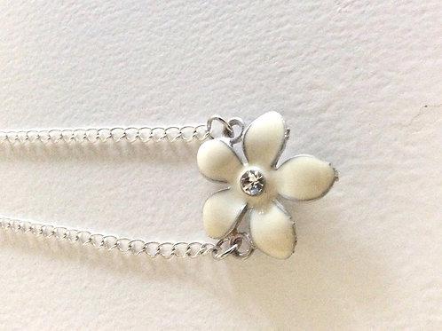 Halskæde med Blomst, 40 + 4 cm.