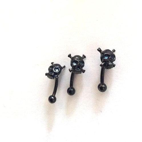 Øjenbryns smykke, Blacksteel, Skull 1,2