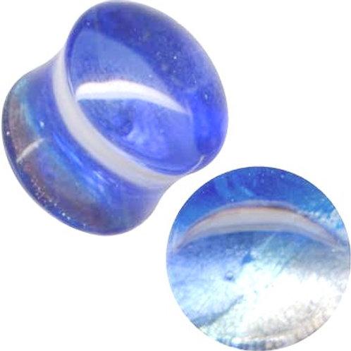 Plug, Glas, Turkis ca. 12  og 14 mm.