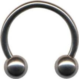 Titanium Circular barbell 1,2 trådtykkelse