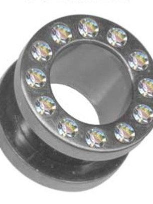 Kirugisk stål Tunnel krystal 8, 10 og 12 mm.