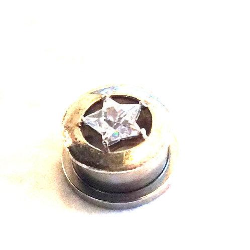 Tunnel 16 mm. Kirugisk stål,front i sterling sølv