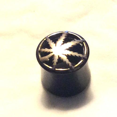 Plug, horn ca. 14 mm. Sterling sølv top