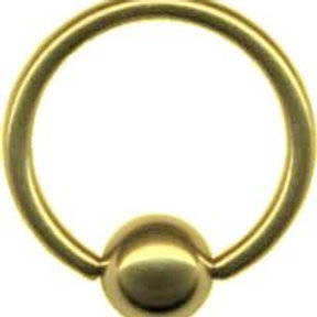 Guldbelagt BCR ring, 1,6 mm.