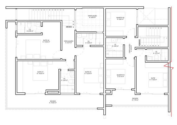 Superior (casa 1 e 2)