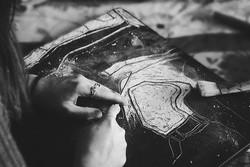 Gravure de Coromandel, panneau Banquise