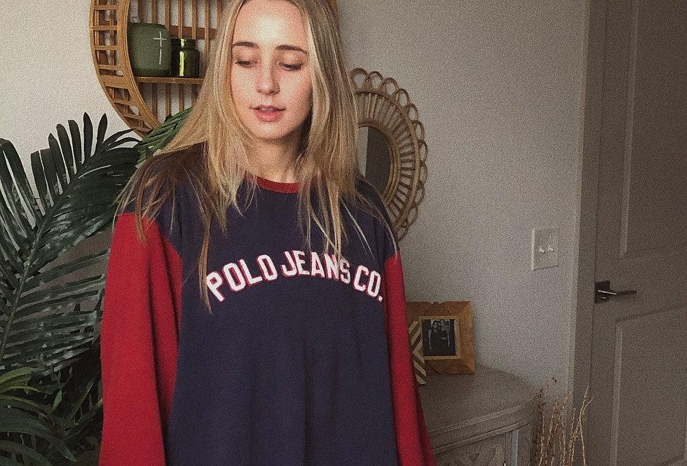 90s Polo Jean Co. Color Block Long Sleeve