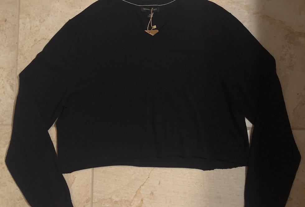 Banana Republic Cropped V-neck Sweater