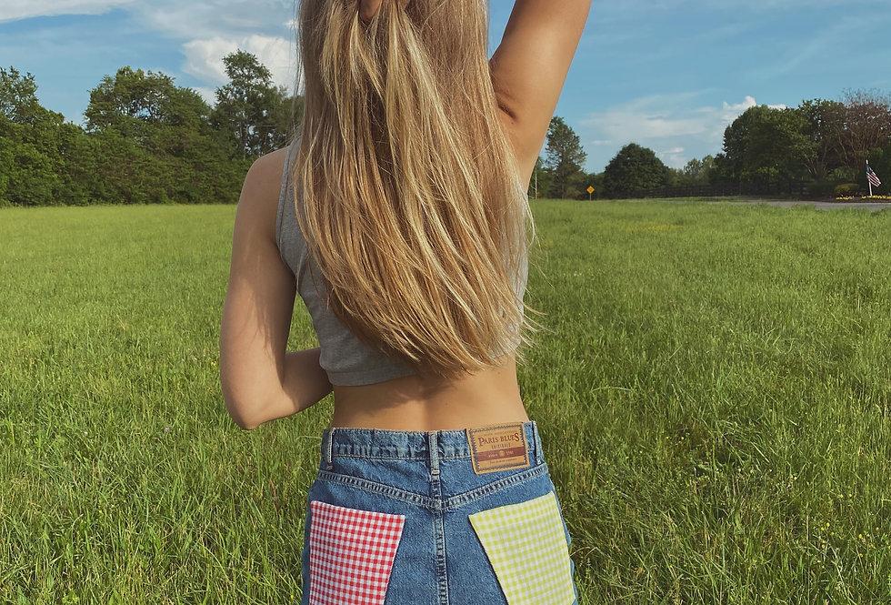 Watermelon Sugar Jean Skirt