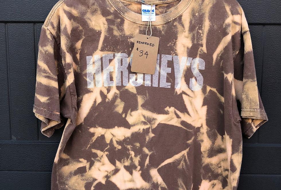 Hershey Bleach Dye Tee