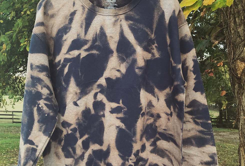 """""""Hazy"""" Abstract Tie Dye Crew"""