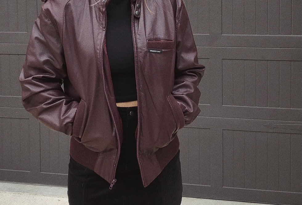 80s Members Only Genuine Leather Racer Jacket