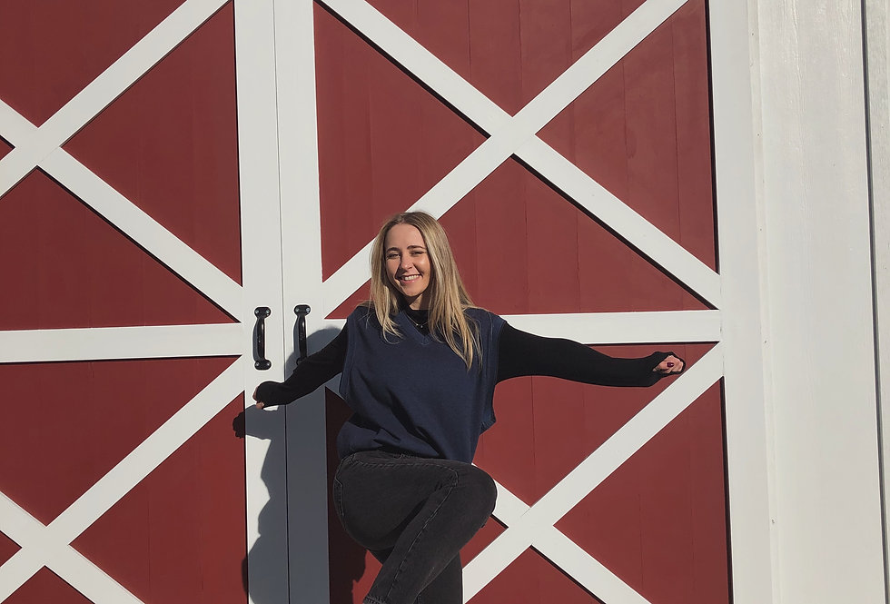 Heather Navy Knit Sweater w/ fleece lining