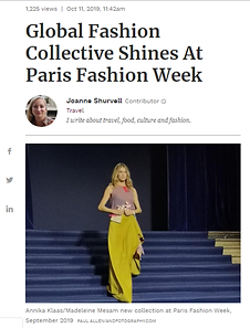 Pariha by Parinita MN Forbes Global Fashion Collective Paris Fashion Week