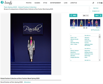 Pariha by Pariniha MN Paris Fashion Week Global Fashion Collective