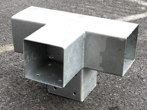 Hoekverbinder T dubbel 9 x 9 cm