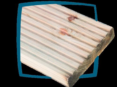 Dennenhout terrasplank anti-slip