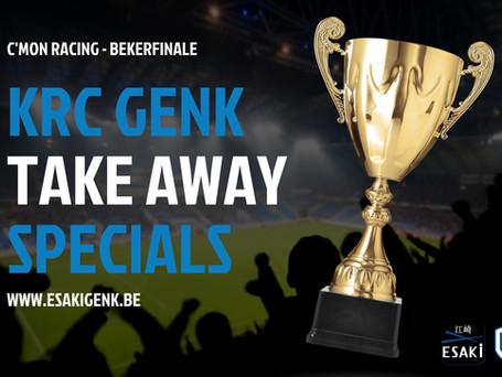 Esaki Genk kleurt blauw-wit en lanceert KRC Genk-specials voor bekerfinale