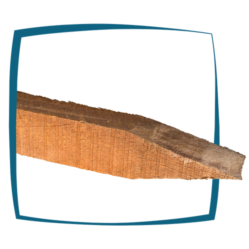 Azobé palen gepunt