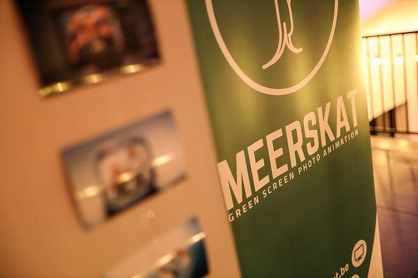 Foto's en een banner van de green screen photobooth van Meerskat