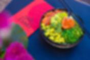Poké Bowl met zalm, avocado en edamameboontjes