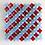 Thumbnail: Schaaltje carré blauw groen rood