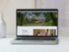 Mockup van de nieuwe website van Bed and Breakfast Haspenhoeve in Herstappe