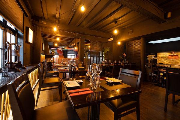 Interieur restaurant Esaki Sushi in Hasselt