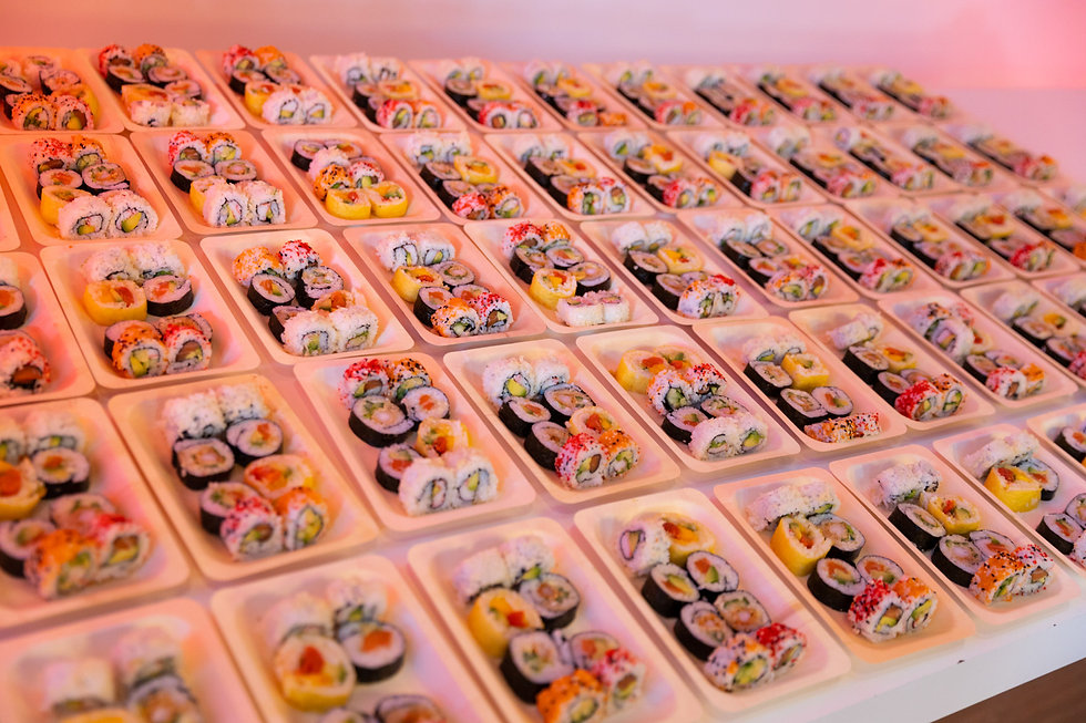 Sushi catering events