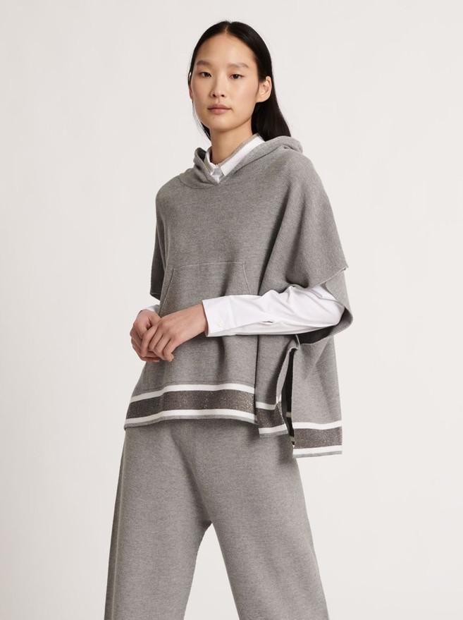 designermode lente en zomer 2021 Fabiana Filippi trui grijs