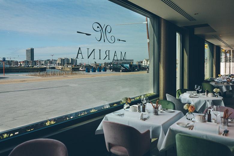 Interieur restaurant Resto Marina in Oostende