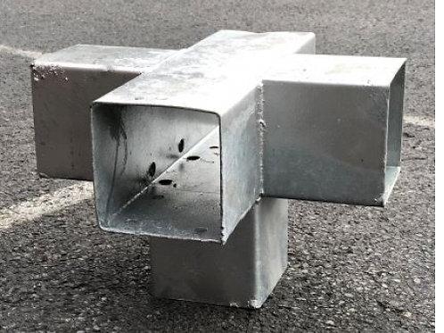 Hoekverbinder kruis 9 x 9 cm