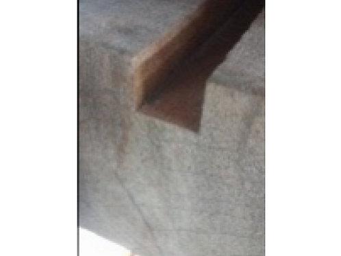 Vierkantpaal gleuf hardhout