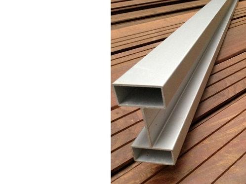 Aluminium gleufpaal