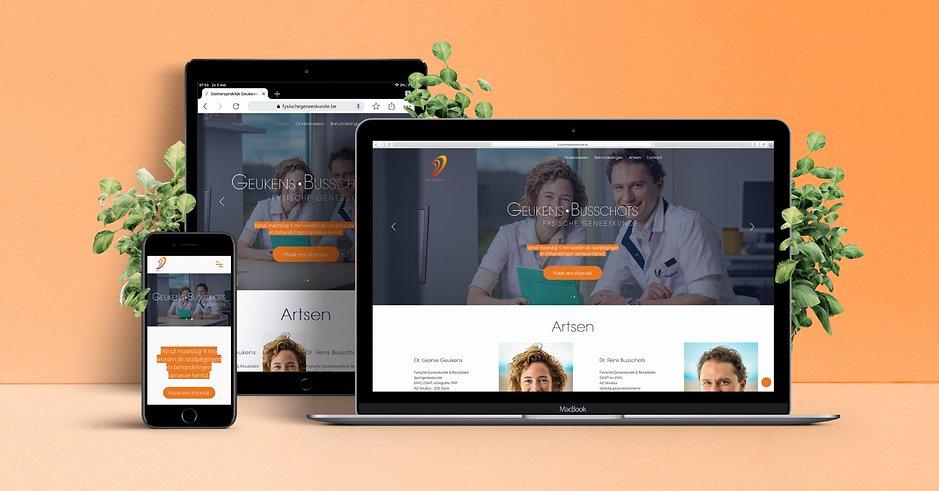 Webdesign dokterspraktijk Geukens-Busschots