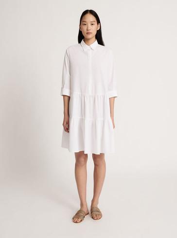 designermode lente en zomer 2021 Fabiana Filippi witte hippe jurk