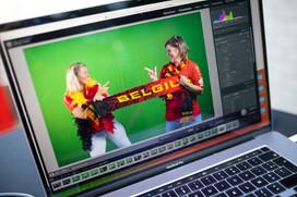 Green screen Rode Duivels EK voetbal Vernaeve