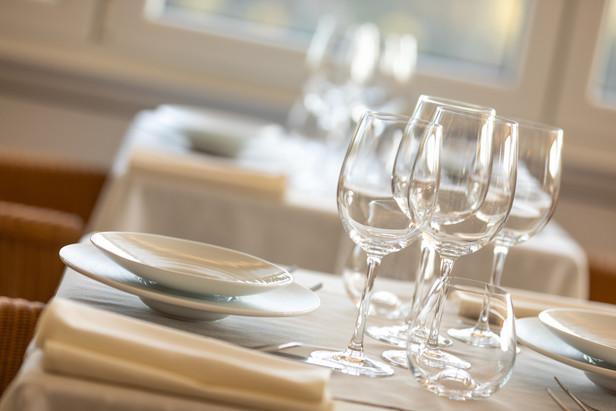 De gedekte tafel bij Hostellerie Beau Site in Trois-Ponts
