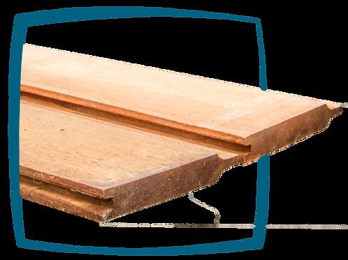 Schuiflatten tand/groef hardhout