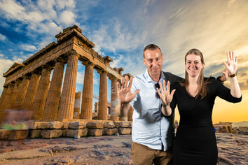 photobooth akropolis griekenland athene