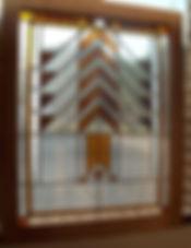 Frank Lloyd Wright style window