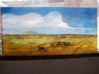 Prairie Painted Window