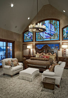 Stained glass windows for a master bedroom