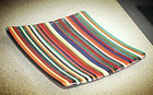 Striped Fused Glass Dish