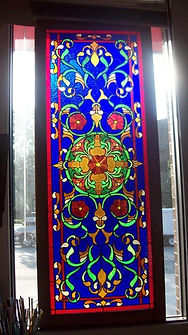 Art Nouveau Style Stained Glass Window