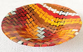 Fused Glass Basketweave Mosaic Bowl