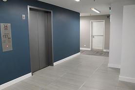 renovated interior design of medical building lobby San Antonio, Texas
