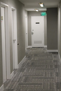 renovated corridor interior design for commercial mdeical building