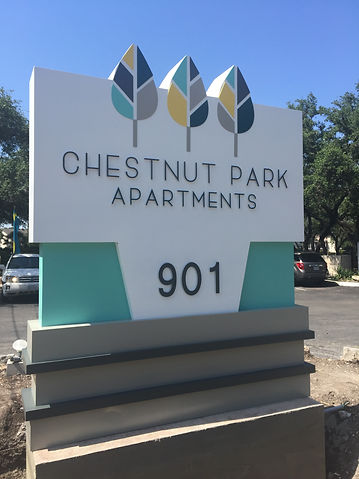 Monument sign apartment san antonio