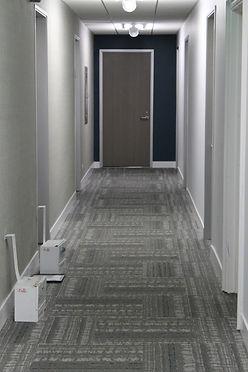 Corridor of commercial medical building. Modern Design approach.